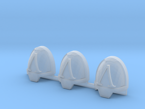 Hellenic L Gravus Shoulder pads x3 L #1 in Smooth Fine Detail Plastic