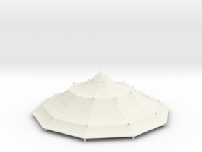 Austauschdach IHC-Carousel 4 für 1:87 (H0 scale) in White Natural Versatile Plastic