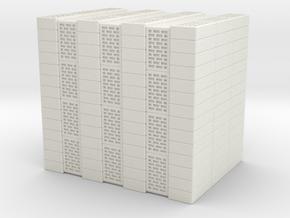 Concrete Bricks Pile 1/56 in White Natural Versatile Plastic