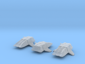 Type 17 Shuttle (Argo) 1/1000 Attack Wing x3 in Smooth Fine Detail Plastic