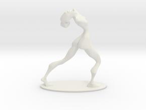 Dancer Figurine in White Premium Versatile Plastic