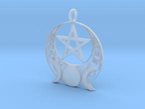 Triple moon Open knotwork pentagram pendant in Smoothest Fine Detail Plastic