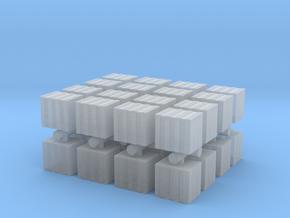 Concrete Bricks Pile (x32) 1/400 in Smooth Fine Detail Plastic