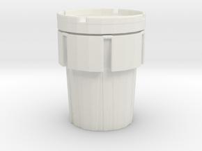 Hazmat Salvage Drum 1/43 in White Natural Versatile Plastic