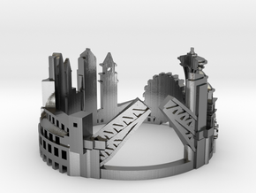 Seattle - Skyline Cityscape Ring in Polished Silver: 6 / 51.5