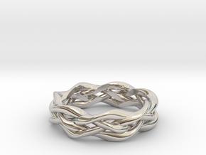 'Swoop' Braid Ring, size 8.25 in Platinum