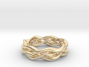 'Swoop' Braid Ring, size 8.25 in 14K Yellow Gold