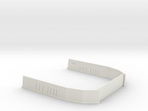 Narrowbody Run Up Block 1:500 in White Natural Versatile Plastic