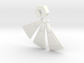 Earthrise Ironworks Radar Dish in White Processed Versatile Plastic