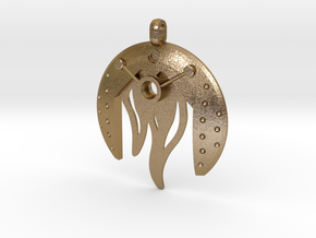 Fire Bohrok Pendent in Polished Gold Steel