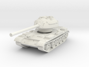 T-54 Mod. 1953 1/76 in White Natural Versatile Plastic