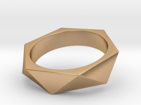 Triangle Ring in Polished Bronze: 8 / 56.75
