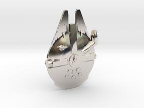 Millennium Falcon Tie Pin in Rhodium Plated Brass