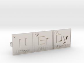 Nerdy Tie Clip in Rhodium Plated Brass