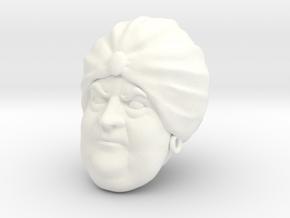 Kothos Head in White Processed Versatile Plastic