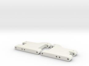 MO28-8 - 43,5mm Stiff rear suspension arms in White Natural Versatile Plastic
