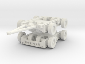 Culemeyer Trailer 2 axis (x2) 1/76 in White Natural Versatile Plastic