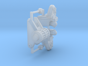 8mm Warlord Titan mount for shoulder weapons - 1x in Smooth Fine Detail Plastic