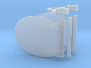 1/20 DKM Schnellboot Torpedo Tube Door SET in Smooth Fine Detail Plastic