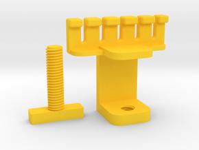 (usb) cable holder, organizer in Yellow Processed Versatile Plastic