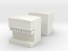 Soda Drink Machine (x2) 1/64 in White Natural Versatile Plastic