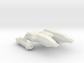 3788 Scale Lyran Black Cheetah Heavy Frigate CVN in White Natural Versatile Plastic