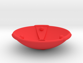 Iron Works Radar Dish in Red Processed Versatile Plastic