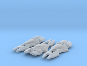Xindi Primate Ship 1/7000 x3 in Smooth Fine Detail Plastic