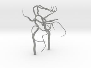 Circle of willis - brain vasculature 3d model in Gray PA12