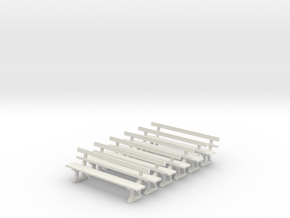 GER Seat X 6 - 4mm in White Strong & Flexible