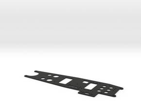 Hirobo Alien Mid4 Radio plate (AL-31) in Black Natural Versatile Plastic