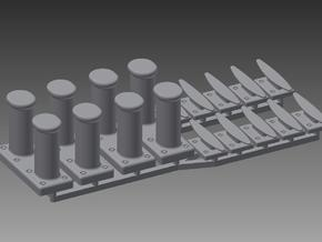 Special Bollards fairlead and cleat set 1/48 in Smooth Fine Detail Plastic