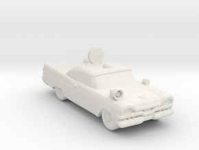 1957 Police Safety car 1:160 Scale in White Natural Versatile Plastic