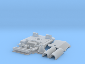1:16 King Tiger rear turret hatch in Smooth Fine Detail Plastic