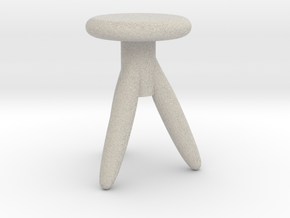 Miniature 1:24 Chair in Natural Sandstone: 1:24