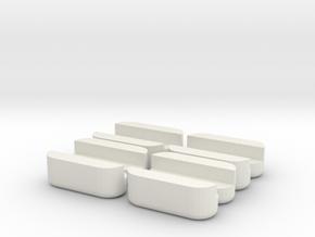 Multi-slide Holder Tray Clamps in White Natural Versatile Plastic