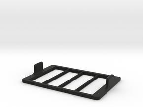 Multi-slide Holder Tray for Microscopy no clamps in Black Natural Versatile Plastic