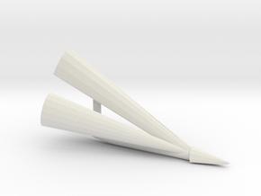 Halmteiler Claas Matador rechts in White Natural Versatile Plastic: 1:32