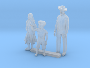 O Scale Family in Smooth Fine Detail Plastic