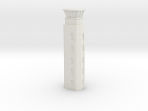 Airport ATC Tower 1/87 in White Natural Versatile Plastic