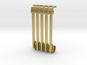 (4) GREEN STEEL FLASHER BARS in Natural Brass