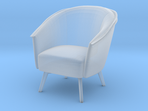 Miniature 1:24 Armchair  in Smooth Fine Detail Plastic: 1:24