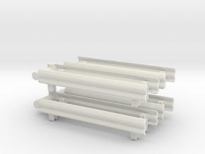 Guard Rail (x8) 1/120 in White Natural Versatile Plastic
