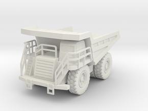 CAT 777F Dump Truck 1/100 in White Natural Versatile Plastic