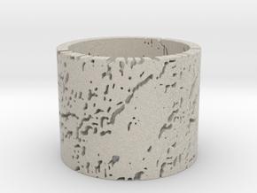 Erosion Ring Size 12 in Natural Sandstone