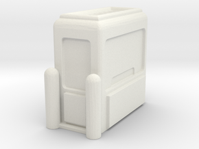 Toll Booth 1/87 in White Natural Versatile Plastic