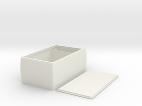 Durable Sliding Lid Deckbox for M:TG, Pokemon, TCG in White Natural Versatile Plastic