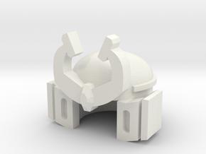 Robohelmet: Pretend Sam in White Natural Versatile Plastic
