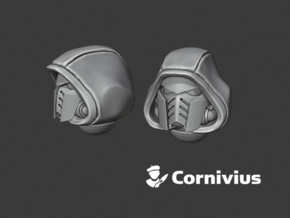 10x Hooded - G:10 Prime Helmets in Smooth Fine Detail Plastic