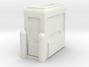 Toll Booth 1/35 in White Natural Versatile Plastic